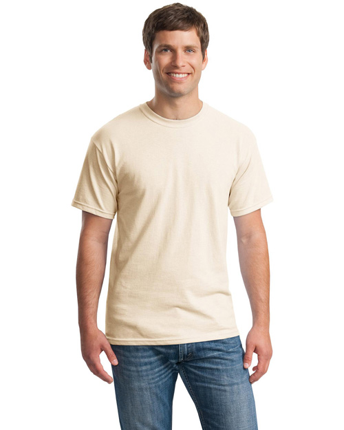 Gildan 5000 Mens Heavy 100% Cotton T Shirt Natural at bigntallapparel
