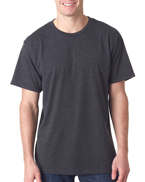 Bayside 5010 Men Heather Jersey Tee Heather Charcoal at bigntallapparel