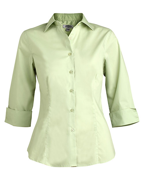 Edwards 5033 Women Tailored 3/4 Sleeve Stretch Blouse Cucumber at bigntallapparel