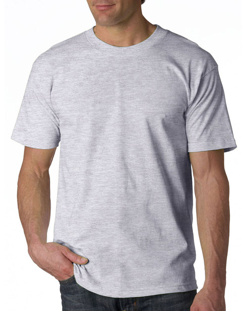 Bayside 5100     Adult Short-Sleeve Cotton Tee  Ash (99/1) at bigntallapparel