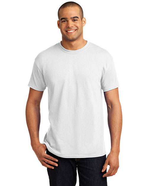 Hanes 5170 Mens Heavy Weight 50/50 Cotton/Poly T Shirt White at bigntallapparel
