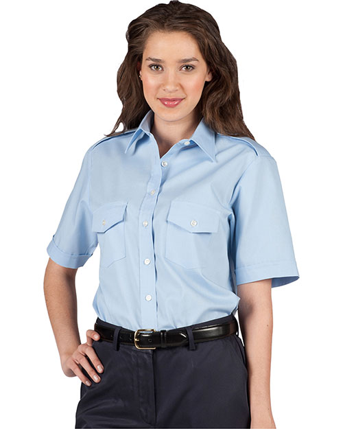 Edwards 5212 WOMENS SHORT SLEEVE NAVIGATOR SHIRT BLUE at bigntallapparel