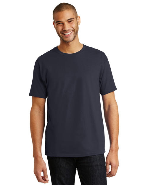 Hanes 5250 Men Tagless 100% Comfortsoft Cotton T Shirt Deep Navy at bigntallapparel