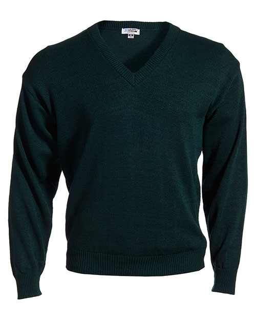 Edwards 565 Men V-Neck Sweater With Tuff-Pil Plus Forest at bigntallapparel