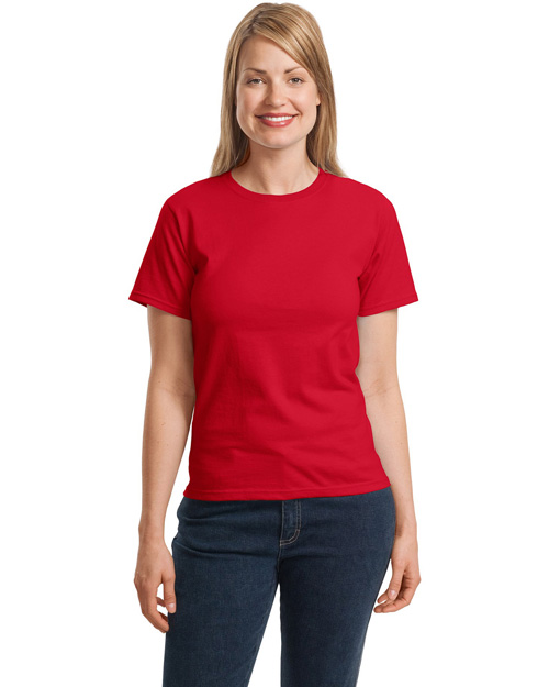Hanes 5680 Ladies ComfortSoft Crewneck T-Shirt.   Deep Red at bigntallapparel