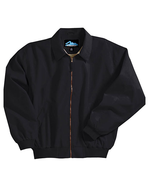 Tri-Mountain 6000 Men Microfiber Jacket With Poplin Lining Black at bigntallapparel
