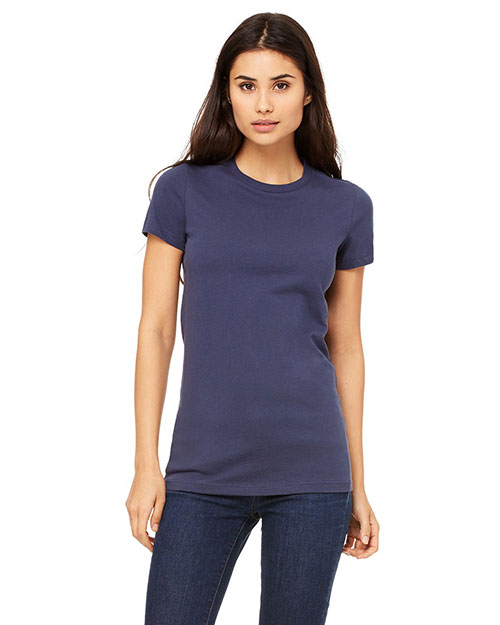 Bella 6004U Ladies' Made in the USA Favorite T-Shirt NAVY at bigntallapparel