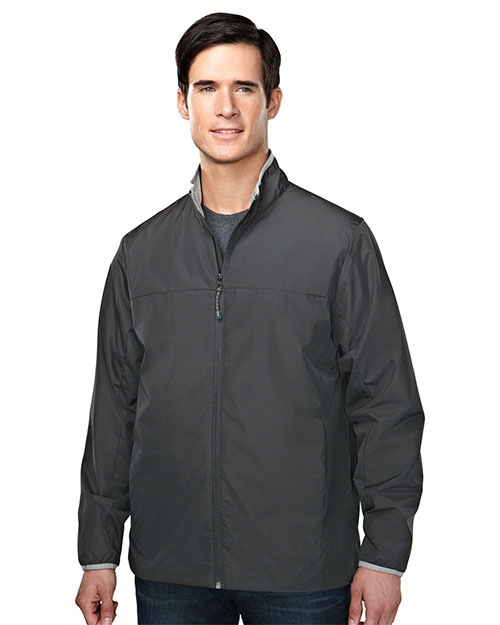 Tri-Mountain 6250 Men 100% Polyester Long Sleeve Jacket With Water Proof Charcoal/Light Gray/Charcoal at bigntallapparel