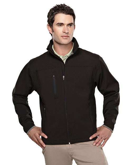 Tri-Mountain 6400 Men Flight Black/Dark Gray at bigntallapparel