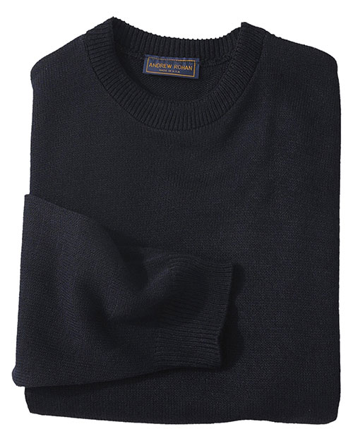 Edwards 665 Unisex Crew Neck Sweater With Tuff-Pil Plus Navy at bigntallapparel
