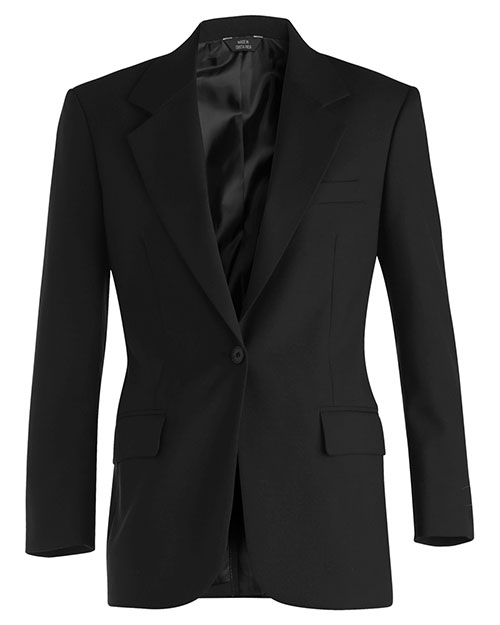 Edwards 6680 Women Single Breasted Wool Blend Suit Coat Charcoal at bigntallapparel