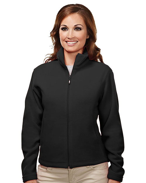 Tri-Mountain 7120 Womens micro fleece jacket. BLACK at bigntallapparel