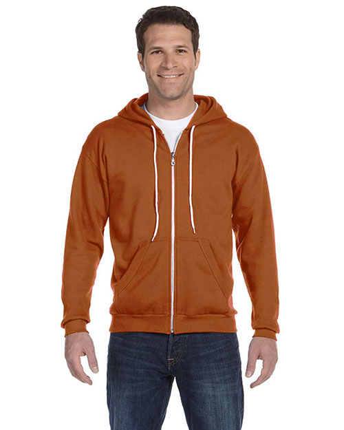 Anvil 71600 Ringspun Full-Zip Hooded Sweatshirt TEXAS ORANGE at bigntallapparel
