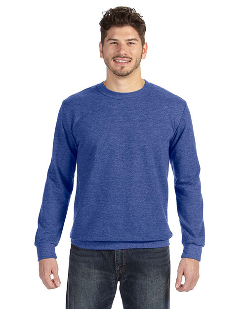 Anvil 72000 Ringspun French Terry Crewneck Sweatshirt HEATHER BLUE at bigntallapparel
