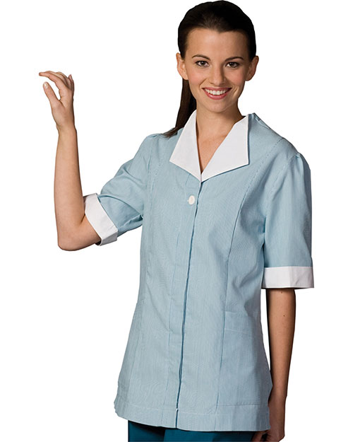 Edwards 7275 WOMEN'S JUNIOR CORD TUNIC TEAL at bigntallapparel