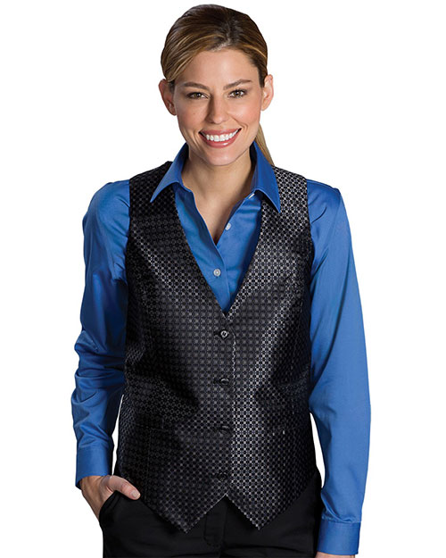 Edwards 7396 Women Grid Vest Black at bigntallapparel