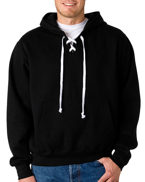 Weatherproof 7476 Fleece Hockey Hood Black at bigntallapparel