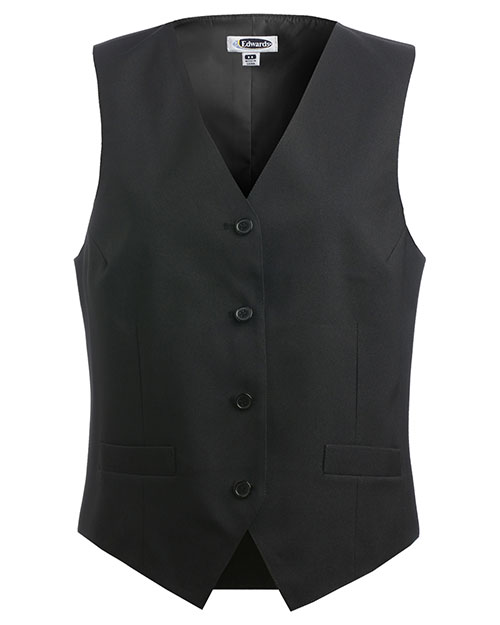 Edwards 7490 WOMEN'S ECONOMY VEST BLACK at bigntallapparel