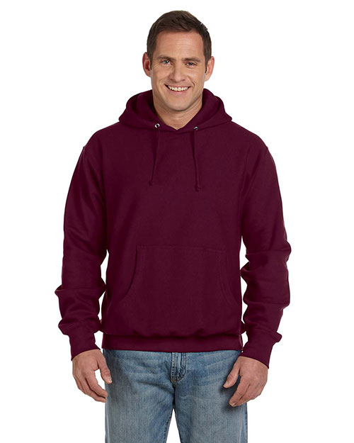 Weatherproof 7700 Men 11oz Cross Wve Pull Hd Maroon at bigntallapparel