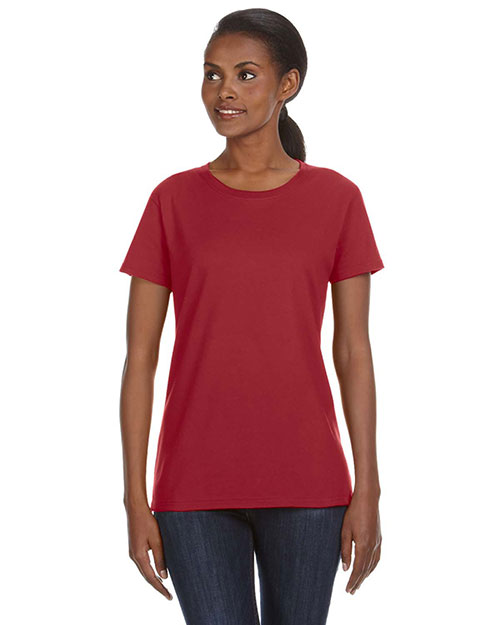 Anvil 780L Ladies' Ringspun Midweight Mid-Scoop T-Shirt INDEPENDENCE RED at bigntallapparel