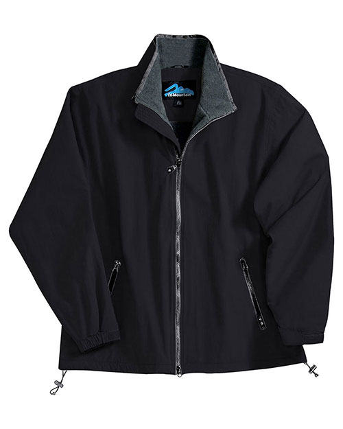Tri-Mountain 8090 Men Big And Tall Nylon Jacket With Fleece Lining Black/Charcoal/Charcoal at bigntallapparel