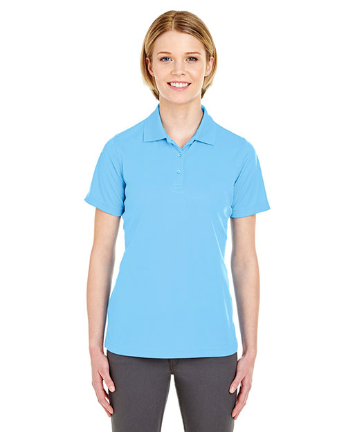 Ultraclub 8210L Women Cool & Dry Mesh Pique Polo Columbia Blue at bigntallapparel