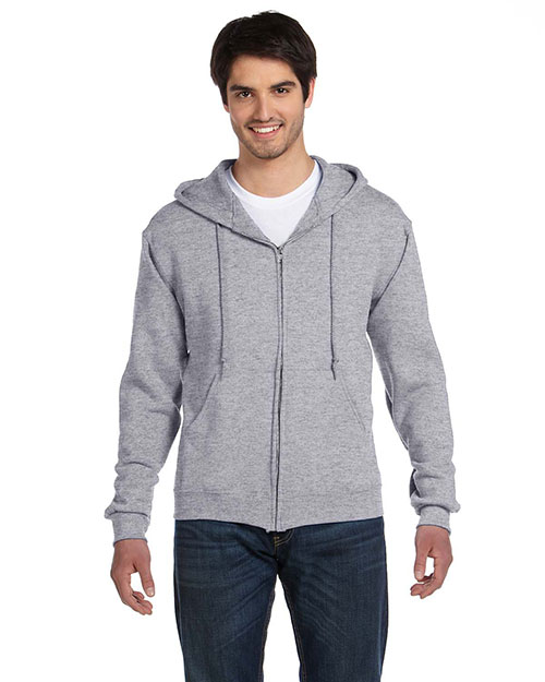 Fruit of the Loom 82230 12 oz. Supercotton™ 70/30 Full-Zip Hood ATHLETIC HEATHER at bigntallapparel