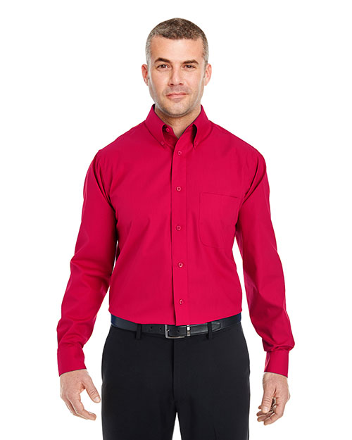 Ultraclub 8330BND   8330 ® Men's Performance Poplin  Red at bigntallapparel