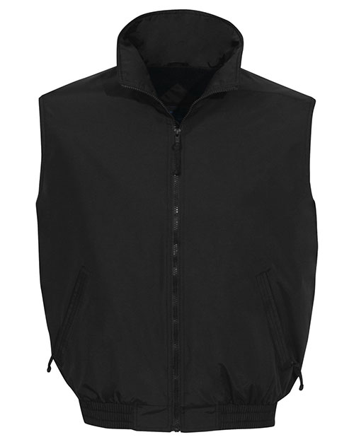 Tri-Mountain 8400  - Big and Tall Mens  Nylon Vest With Fleece Lining Black at bigntallapparel