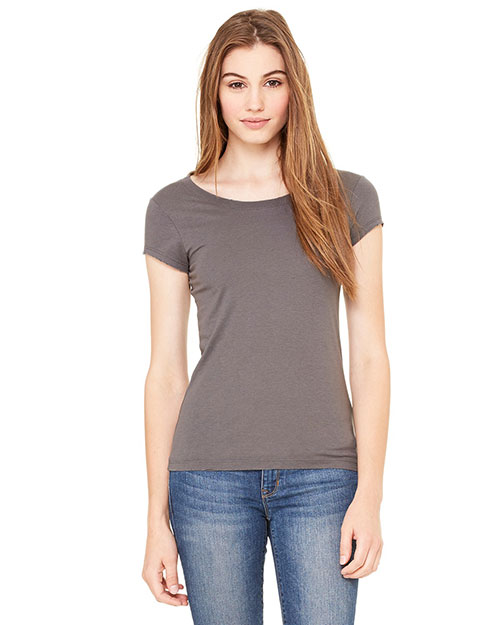 Bella 8402 Ladies' Vintage Jersey Short-Sleeve T-Shirt ASPHALT at bigntallapparel