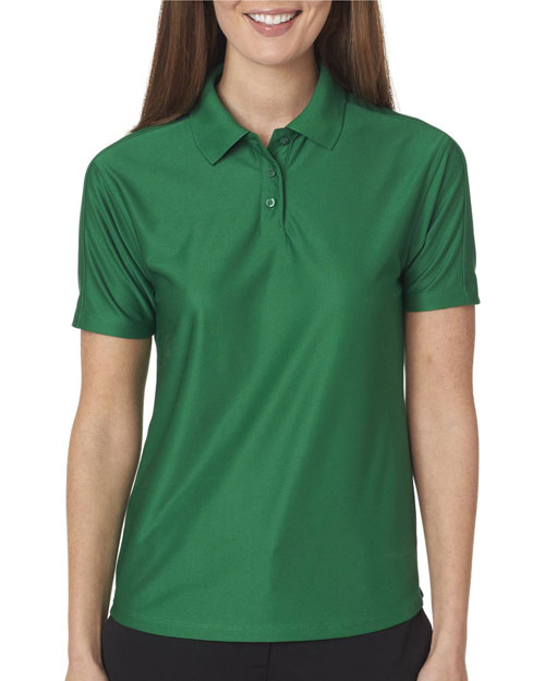 Ultraclub 8414    ® Ladies' Cool & Dry Elite Performance Polo  Augusta Green at bigntallapparel