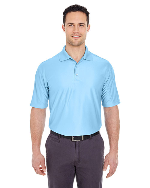 Ultraclub 8415T    ® Men's Tall Cool & Dry Elite Performance Polo  Columbia Blue at bigntallapparel