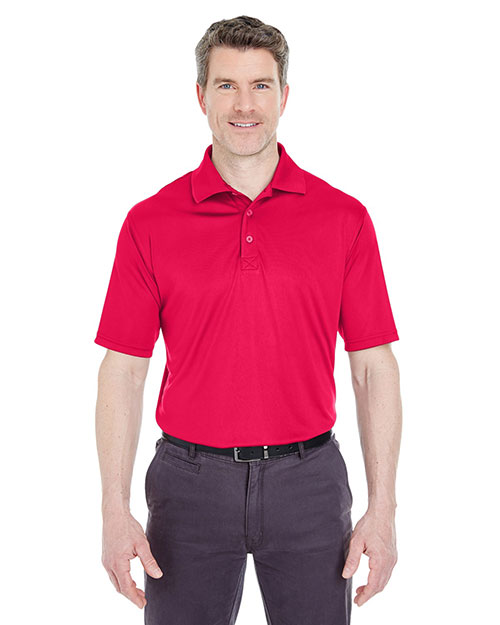 Ultraclub 8425    ® Men's Cool & Dry Sport Snag-Resistant Performance Interlock Polo  Red at bigntallapparel