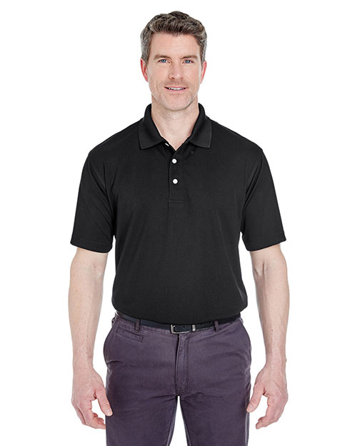 Ultraclub 8445    ® Men's Cool & Dry Stain-Release Performance Polo  Black at bigntallapparel