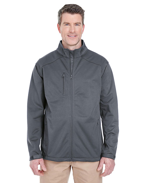 Ultraclub 8477 Softshell Solid Grey at bigntallapparel