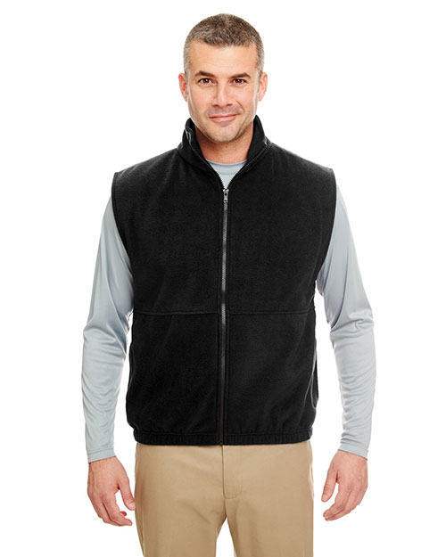 Ultraclub 8486 Full Zip Vest Black at bigntallapparel