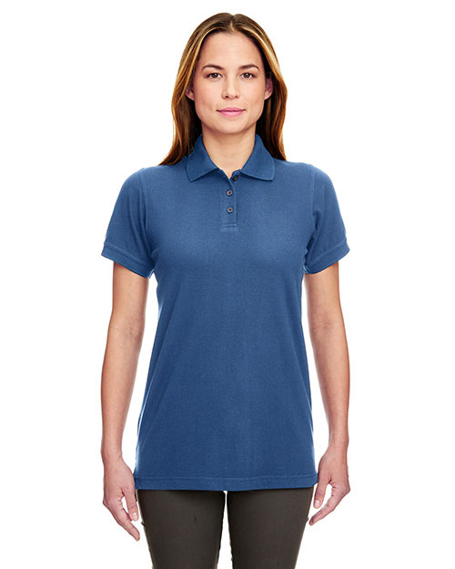 Ultraclub 8530 Women Classic Pique Polo Indigo at bigntallapparel