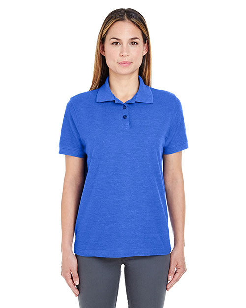 Ultraclub 8541    ® Ladies' Whisper Piqué Polo  Royal Heather at bigntallapparel