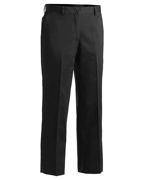 Edwards 8572 WOMEN'S MICROFIBER EASY FIT FLAT FRONT PANT BLACK at bigntallapparel