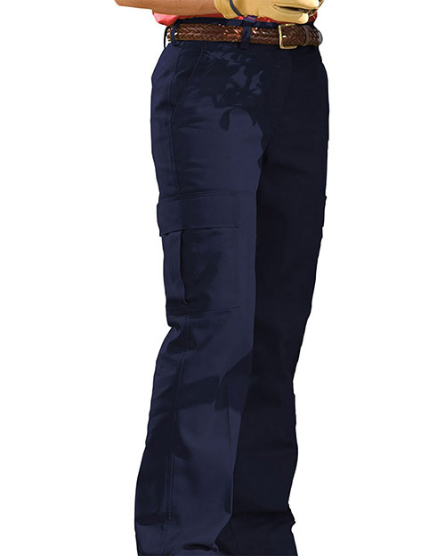 Edwards 8573 WOMEN'S BLENDED CHINO CARGO PANT NAVY at bigntallapparel