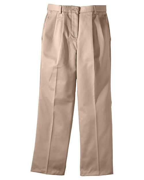 Edwards 8639 WOMEN'S ALL COTTON PLEATED PANT TAN at bigntallapparel