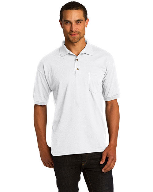 Gildan 8900SAN  DryBlend? 5.6-Ounce Jersey Knit Sport Shirt with Pocket. 8900 White at bigntallapparel