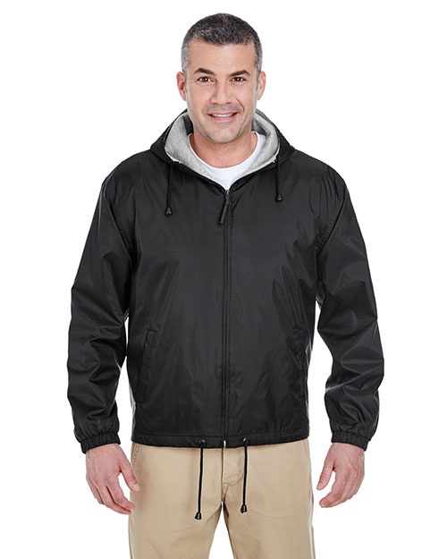Ultraclub 8915 Adult Fleece Lined Jacket Black at bigntallapparel