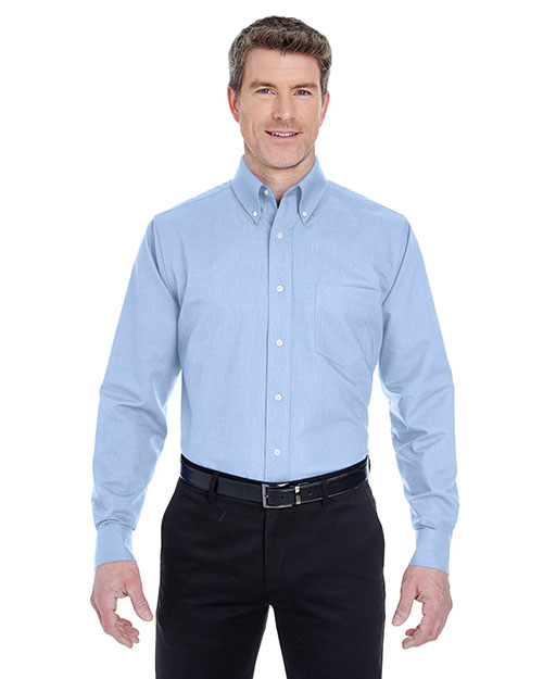 Ultraclub 8970    ® Men's Classic Wrinkle-Free Long-Sleeve Oxford  Light Blue at bigntallapparel