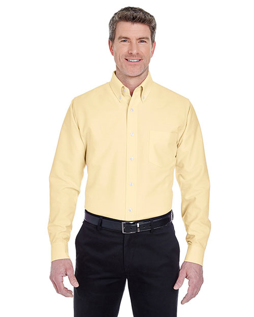 Ultraclub 8970    ® Men's Classic Wrinkle-Free Long-Sleeve Oxford  Butter at bigntallapparel