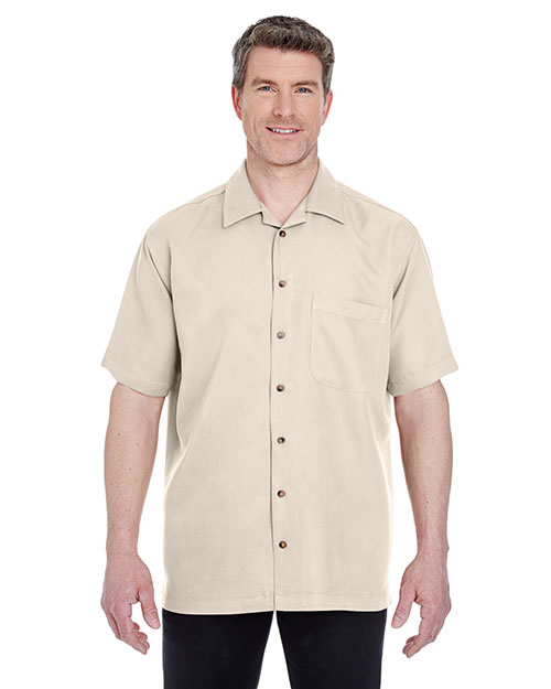 Ultraclub 8980BND   8980 ® Men's Cabana Breeze Camp Shirt  Stone at bigntallapparel