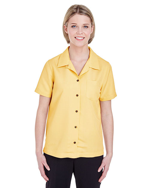 Ultraclub 8981    ® Ladies' Cabana Breeze Camp Shirt  Banana at bigntallapparel