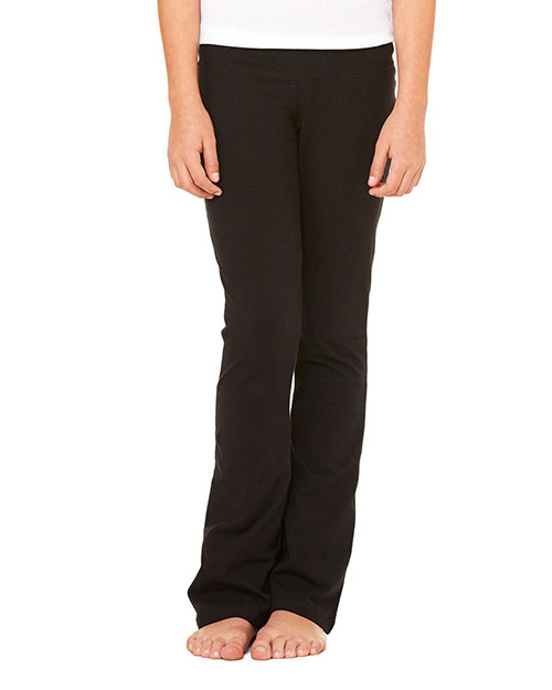 Bella 910 Women Cotton/Spandex Dance Pant Black at bigntallapparel