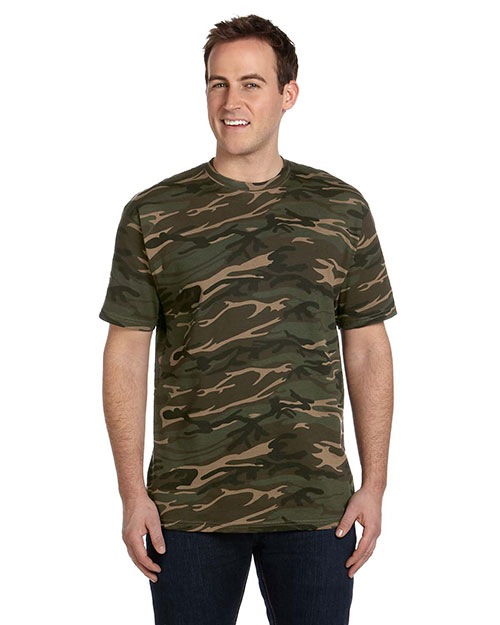 Anvil 939 4.9 oz., 100% Ringspun Cotton Camouflage T-Shirt CAMOUFLAGE GREEN at bigntallapparel