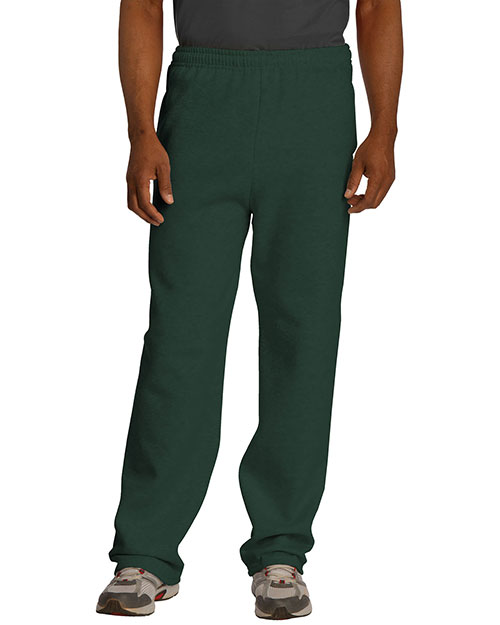 Jerzees 974MP Women  Nublend Open Bottom Pant With Pockets Forest at bigntallapparel